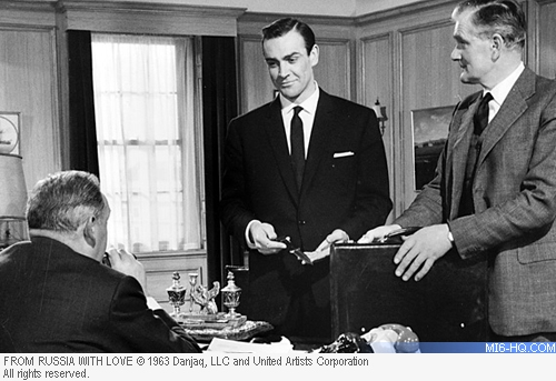 Sean Connery, Bernard Lee and Desmond Llewelyn
