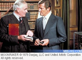 Roger Moore and Desmond Llewelyn