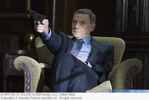 Jesper Christensen in a cut scene for Quantum of Solace