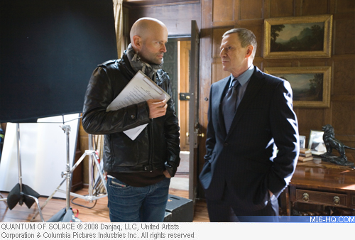 Marc Forster and Jesper Christensen behind the scenes of Quantum of Solace