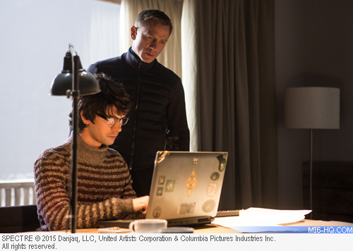 Daniel Craig as James Bond and Ben Whishaw as Q in SPECTRE