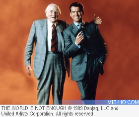 Pierce Brosnan and Desmond Llewelyn