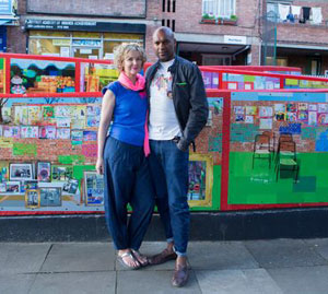 Colin Salmon unveils mural in North Kensington