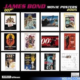 TeNeues release their 2005 James Bond calendars and dairy - now