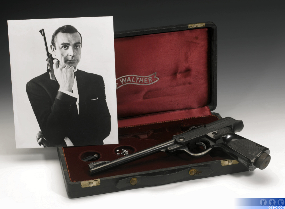 The Walther air pistol used in the classic 'From Russia With