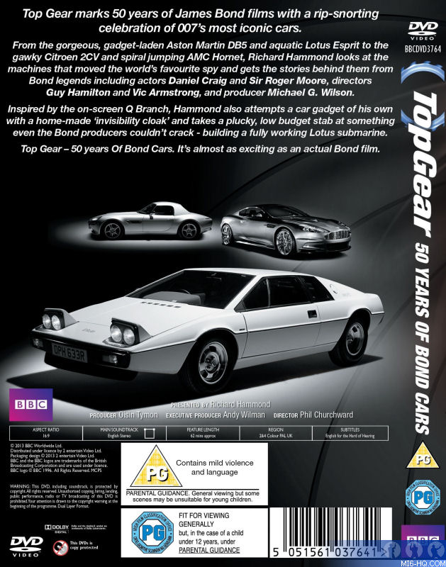Top Gear - Bond Cars DVD - The Top Gear special celebrating 50 Years of Bond Cars will be ...